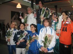Le finaliste di spada femminile cat.2