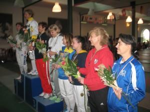 Le finaliste di fioretto femminile cat. 2 e 3