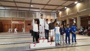 Fioretto maschile cat.ragazzi/allievi – Carlo Luigi Rovere 7° classificato