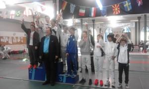 Fioretto maschile a squadre: squadra mista 3^ classificata