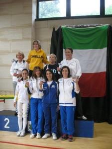 Le finaliste del fioretto femminile cat.2 + 3